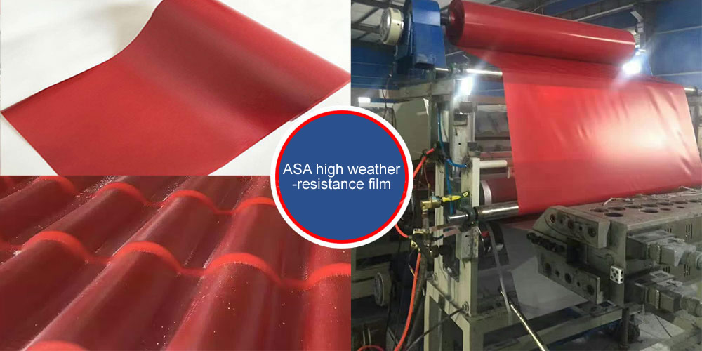 ASA FUNCTION FILM WITH WIDE APPLICATION IN COLOR STEEL TILE