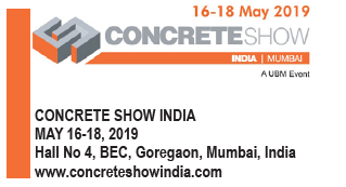 Concrete Show India (CSI) in Mumbai from May 16th – 18th, 2019